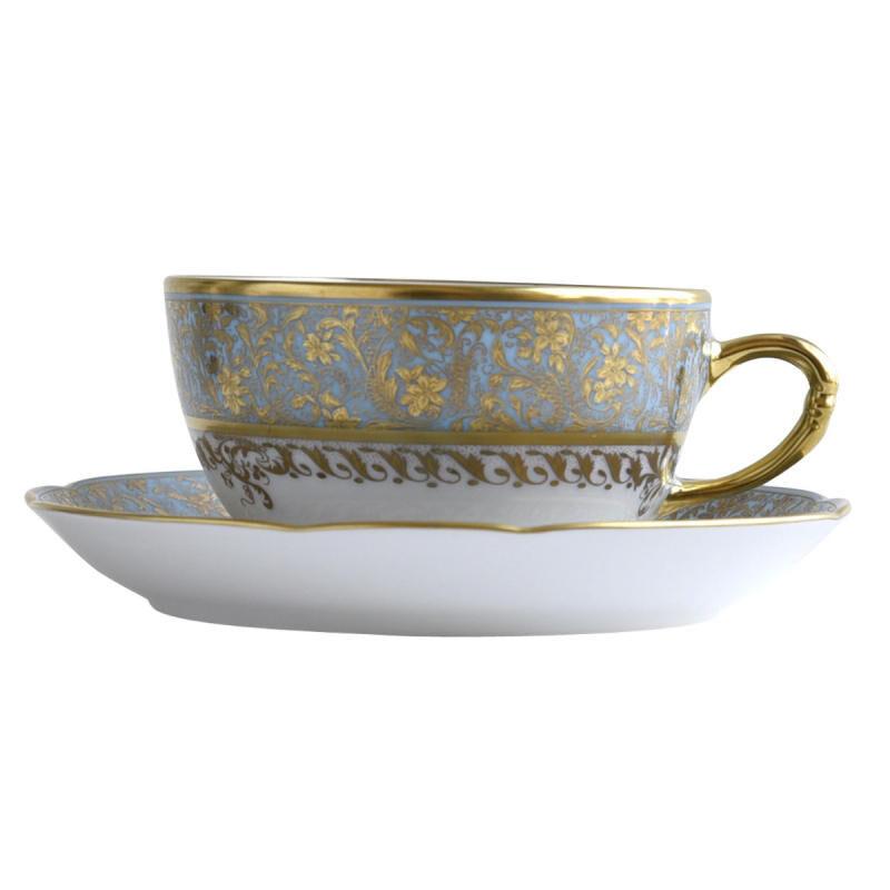 عدن تركوازي كوب شاي وصحن, large