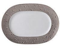 Ecume Platinum Oval Platter, small