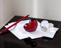Zinzin Heart Large Ruby, small