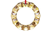 Noel Gold Christmas Wreath Decoration, small