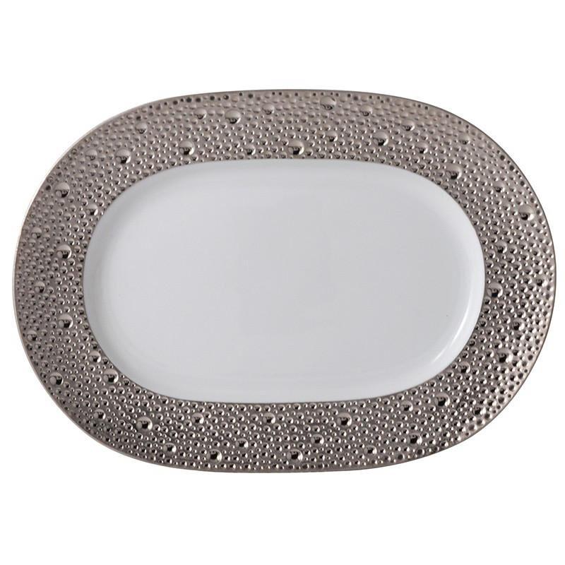Ecume Platinum Oval Platter, large