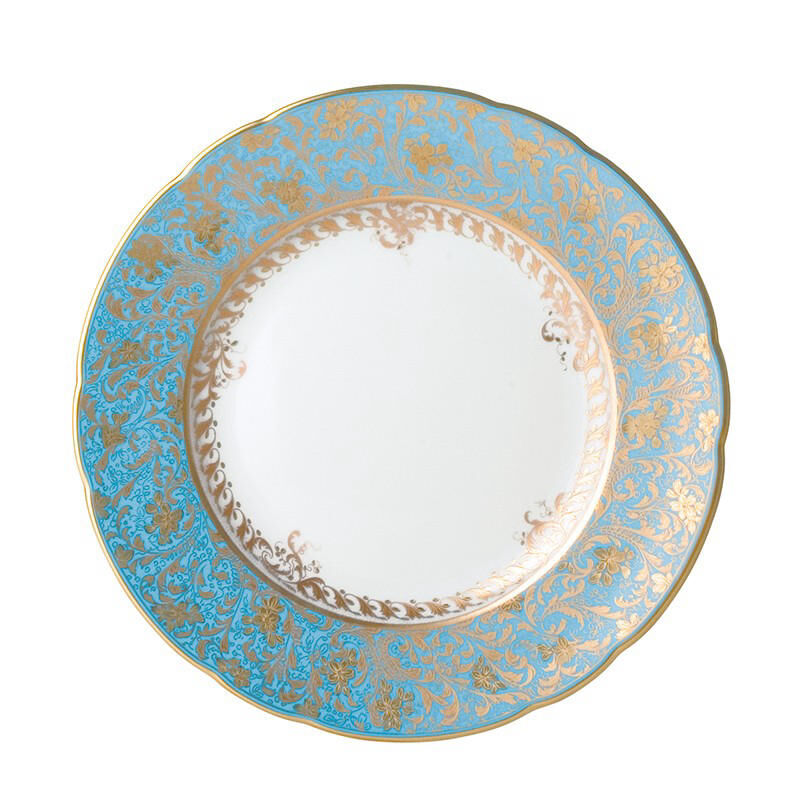 Eden Turquoise Salad Plate, large