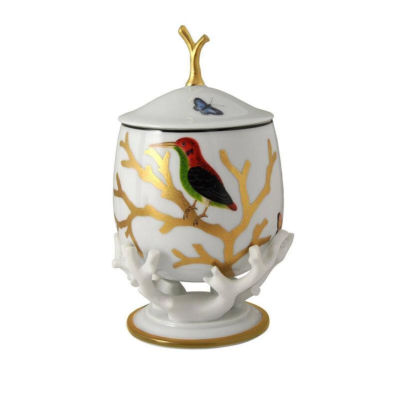 صندوق مع غطاء بتصميم الطيور, large